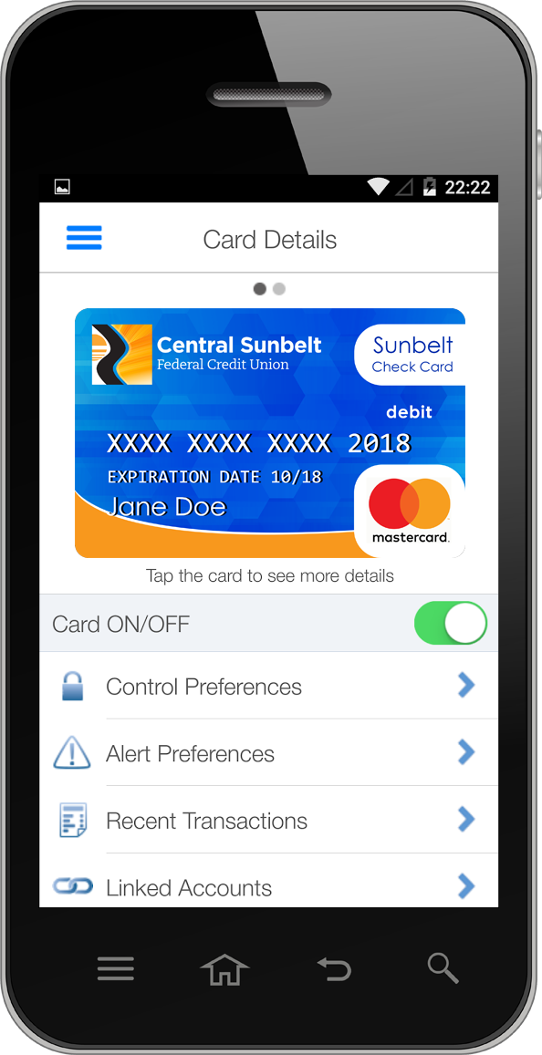 Sunbelt Card Manager App