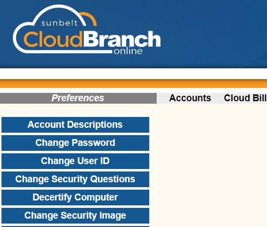 Image of Cloud Branch preferences