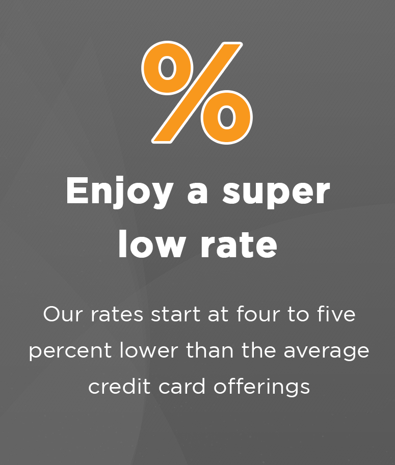 Enjoy a super low rate