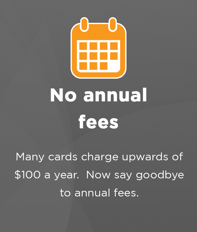 No annual fees