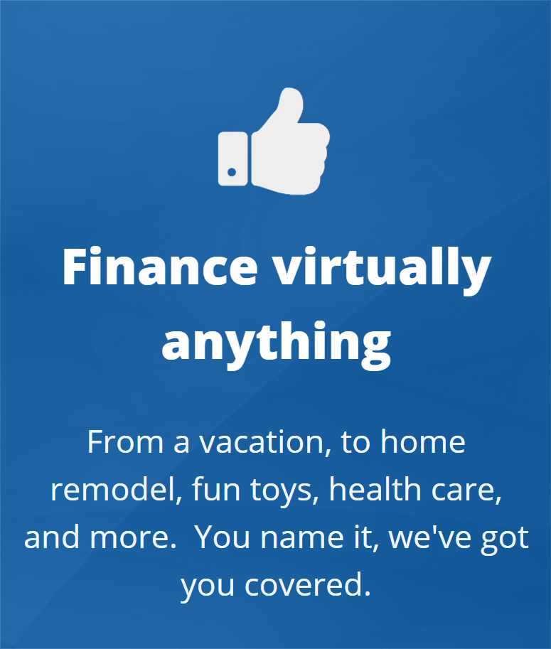 Finance virtually anything
