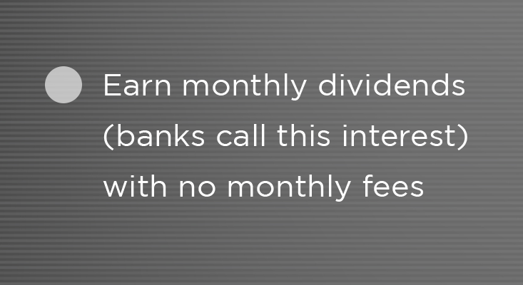 Benefits - earn monthly dividends